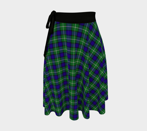 Image of Alexander Tartan Wrap Skirt