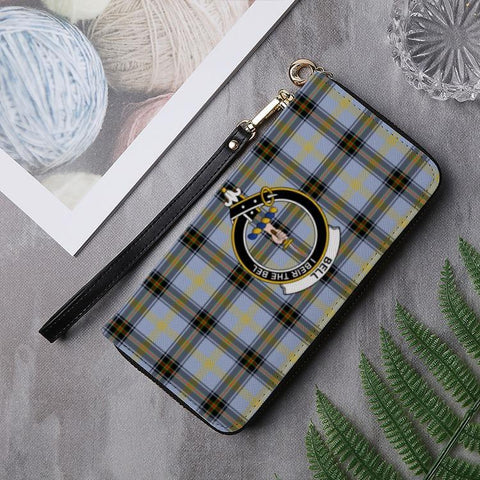 Bell Clan Badge Tartan Zipper Wallet