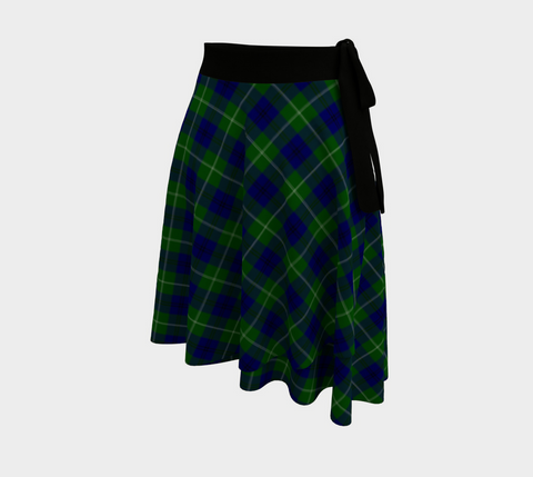 Image of Oliphant Modern  Tartan Wrap Skirt