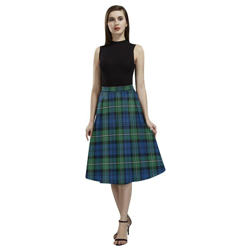 Forbes Ancient Tartan Aoede Crepe Skirt