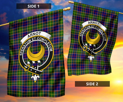 Arnott Clan Badge Tartan Garden Flag H01