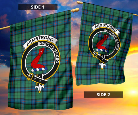 Image of Armstrong Ancient Tartan Garden Flag H01