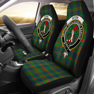 Aiton Clan Badge Tartan Car Seat Cover