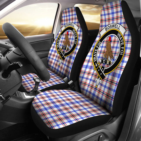 Boswell  Clan Badge Tartan Car Seat Cover