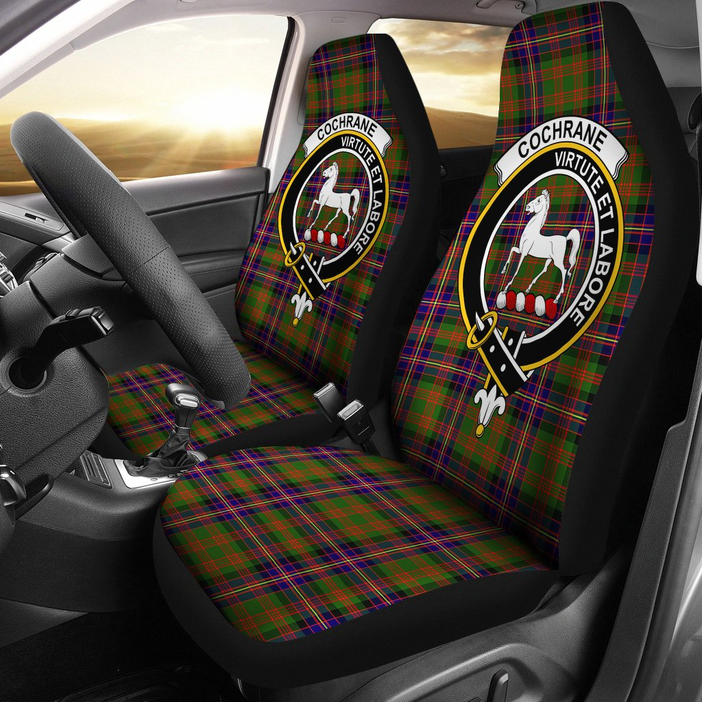 Cochrane Clan Badge Tartan Car Seat Cover