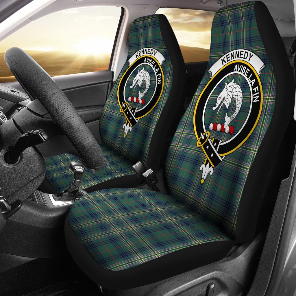 Kennedy Clan Badge Tartan Car Seat Cover