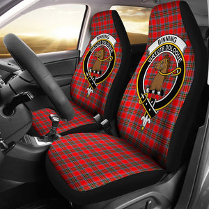 Binning Clan Badge Tartan Car Seat Cover