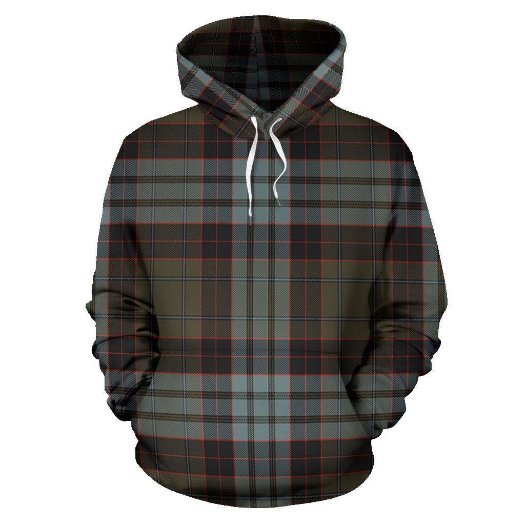 Stewart Old Weathered Tartan All Over Print Hoodie