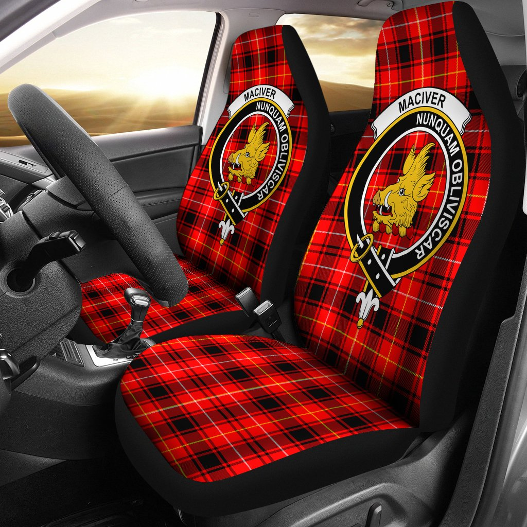 MacIver Clan Badge Tartan Car Seat Cover