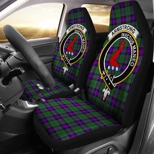Armstrong Clan Badge Tartan Car Seat Cover H01