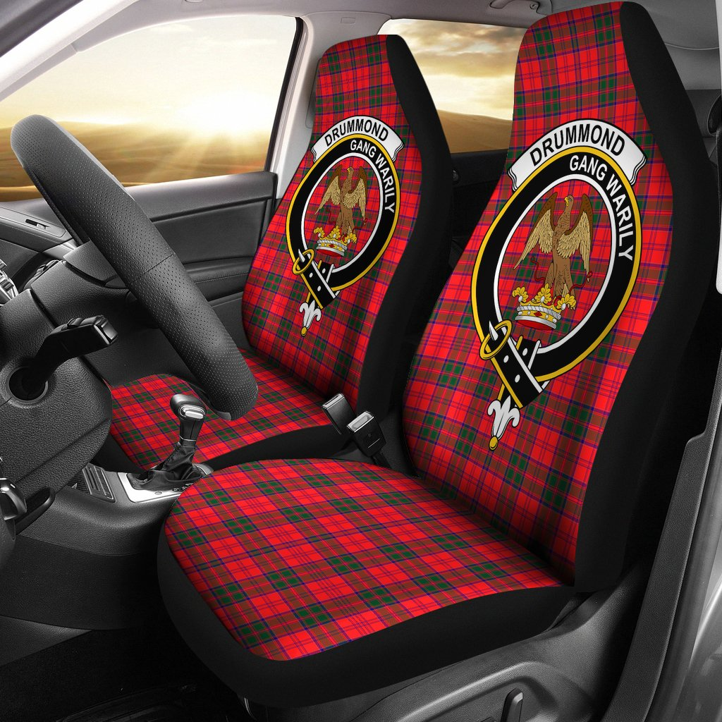 Drummond Clan Badge Tartan Car Seat Cover
