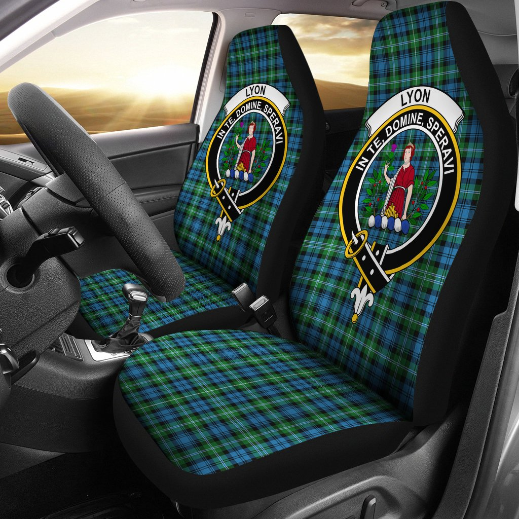 Lyon Clan Clan Badge Tartan Car Seat Cover