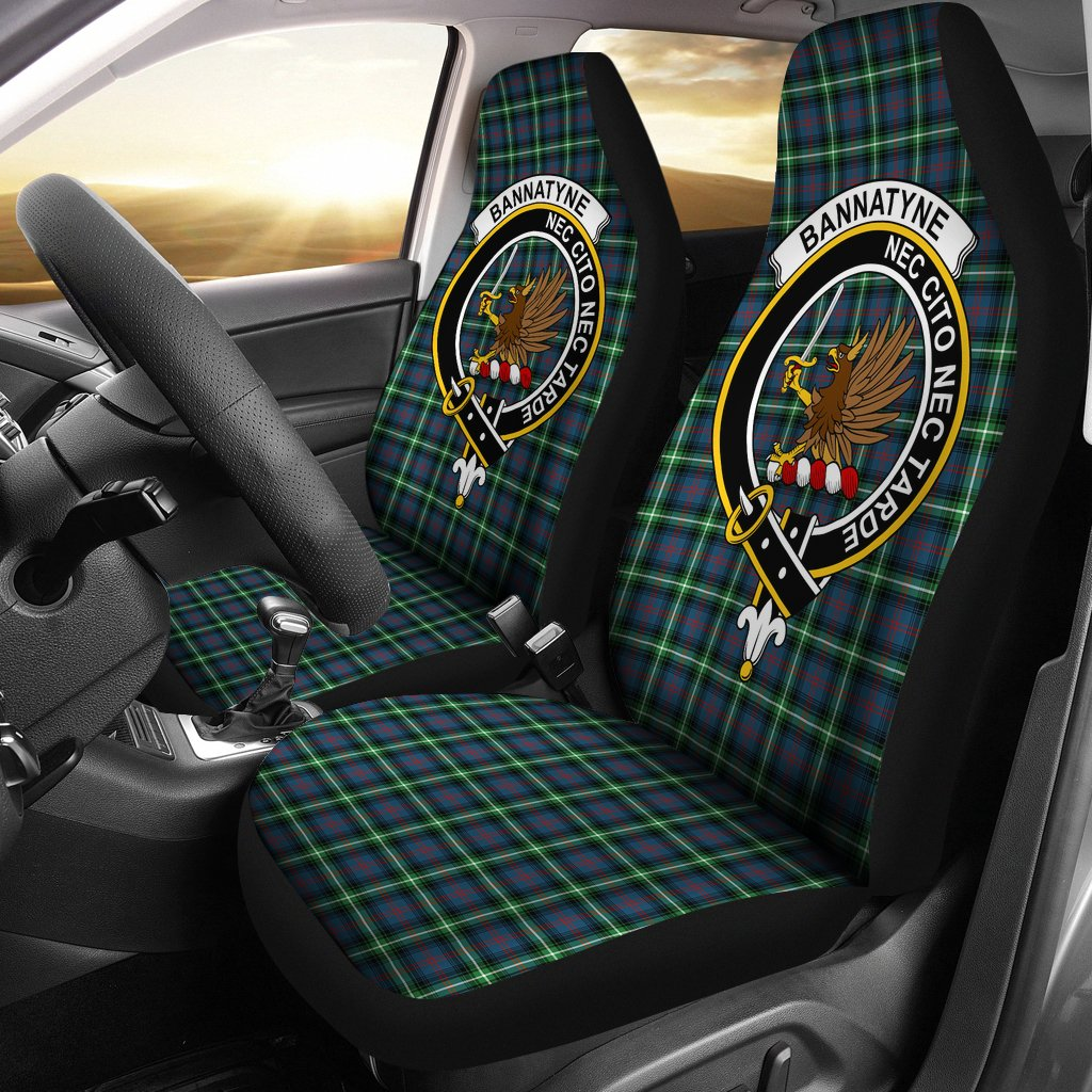 Bannatyn Clan Badge Tartan Car Seat Cover