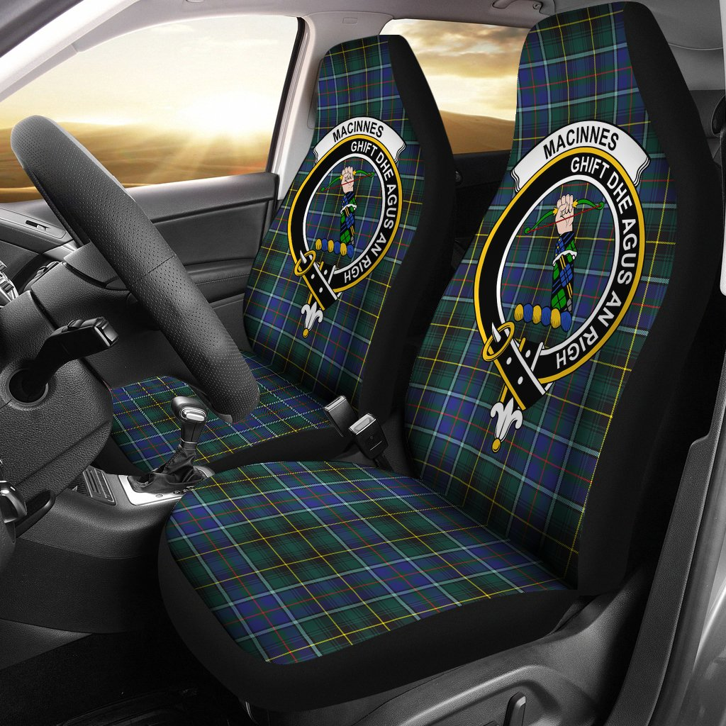 MacInnes Clan Badge Tartan Car Seat Cover
