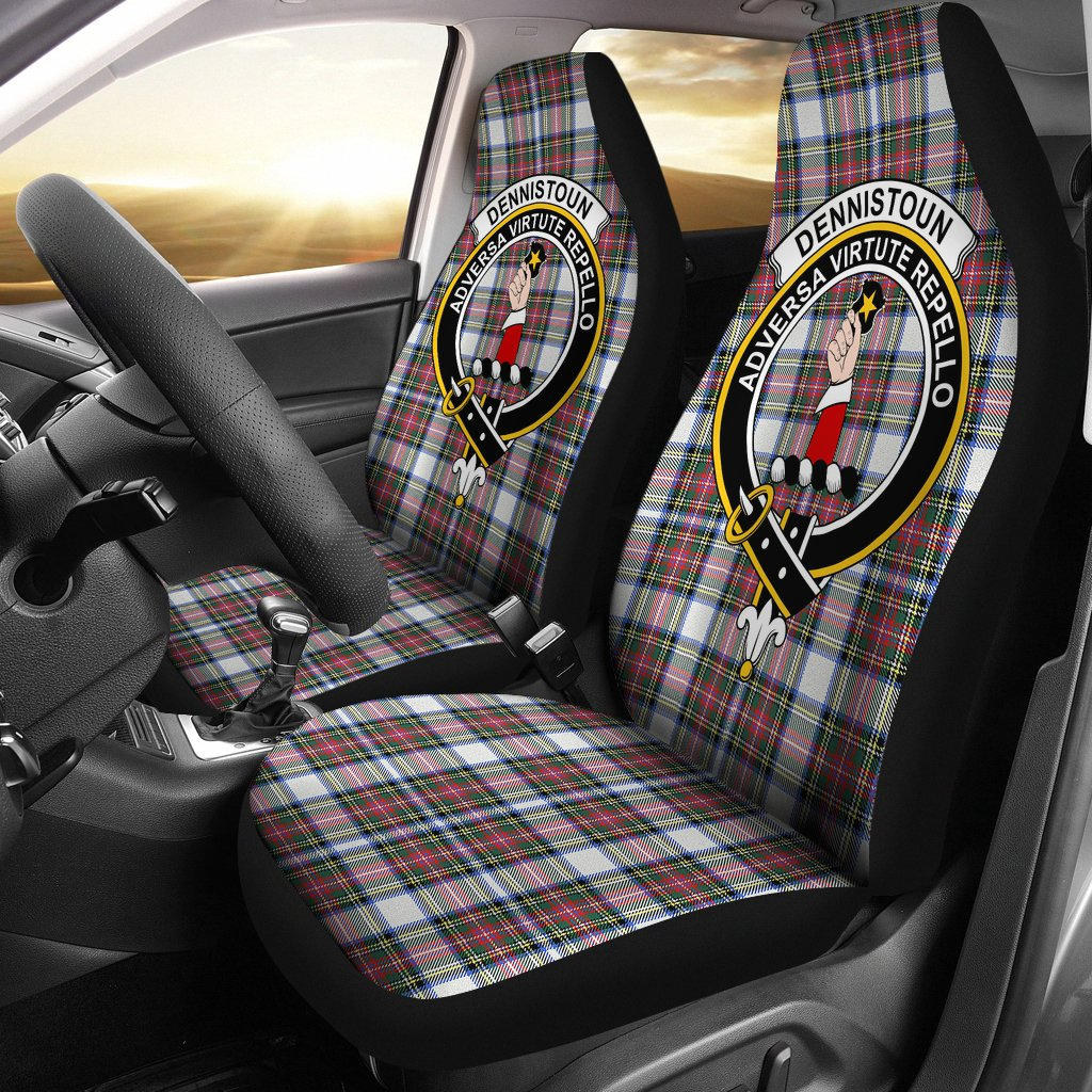 Dennistoun Clan Badge Tartan Car Seat Cover