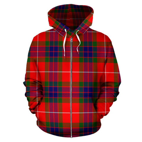 Fraser Modern Tartan All Over Zip Hoodie