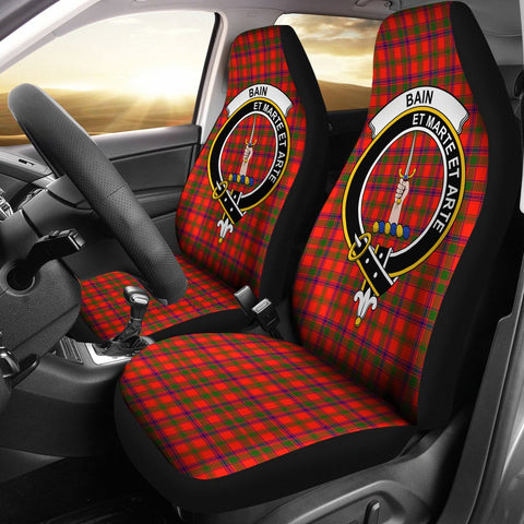 Bain Clan Badge Tartan Car Seat Cover