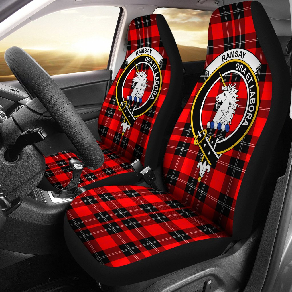 Ramsay Clan Badge Tartan Car Seat Cover