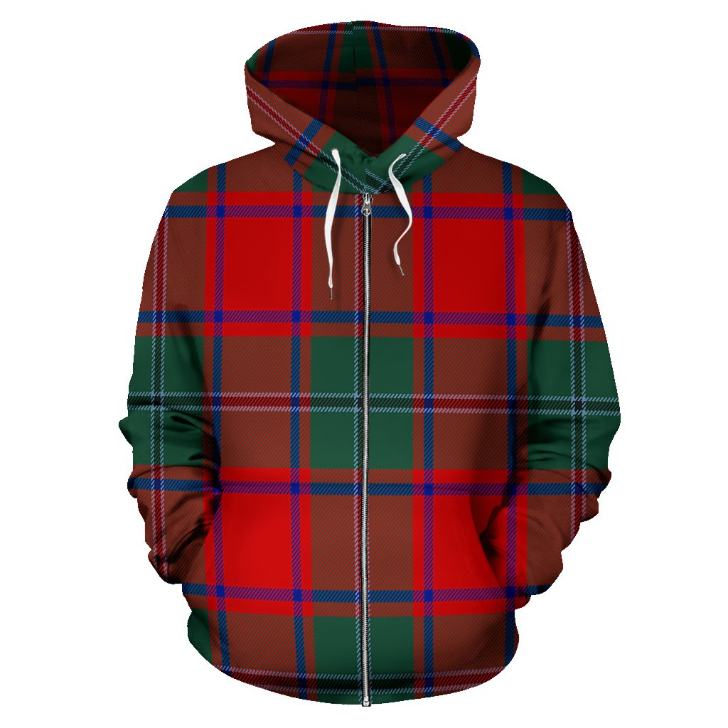 MacPhail Tartan All Over Zip Hoodie