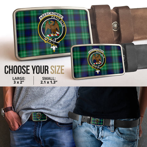 Image of Abercrombie Clan Badge Tartan Belt Buckle H01