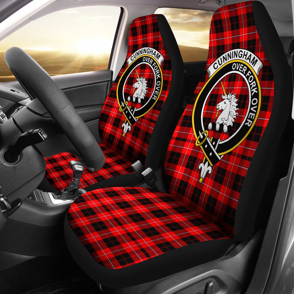 Cunningham  Clan Badge Tartan Car Seat Cover