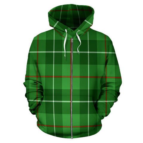 Galloway District Tartan All Over Zip Hoodie