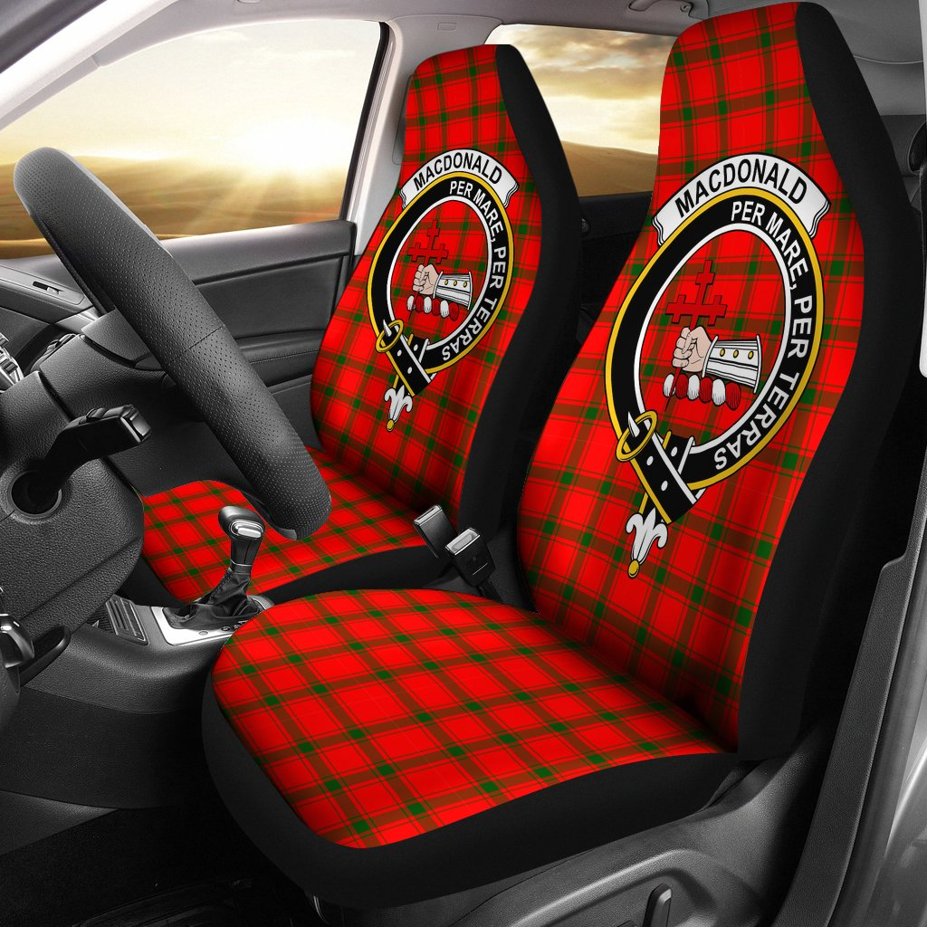 MacDonald of Sleat Clan Badge Tartan Car Seat Cover
