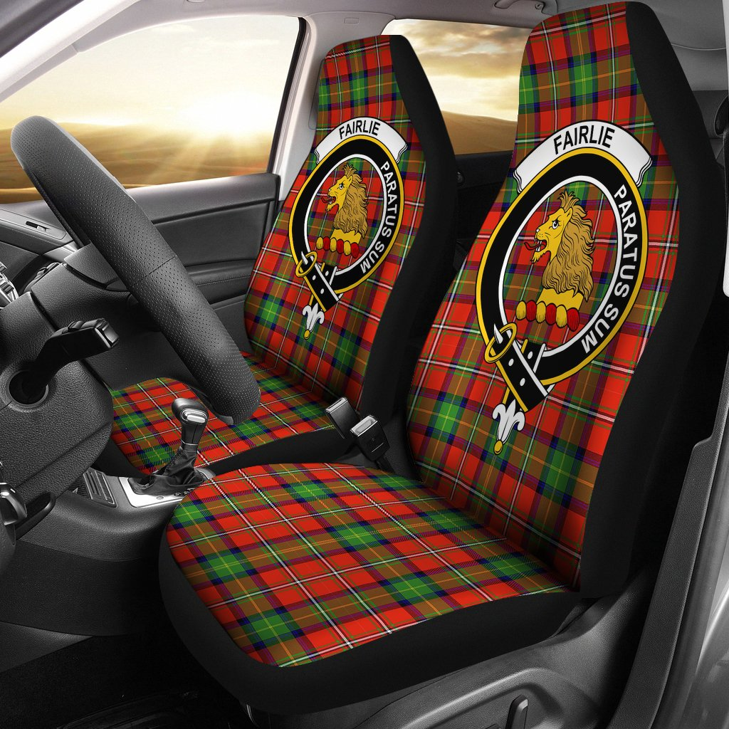 fairlie Clan Badge Tartan Car Seat Cover