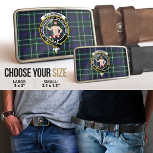 Allardice Clan Badge Tartan Belt Buckle H01