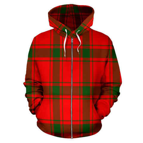Image of MacDonald of Sleat Tartan All Over Zip Hoodie