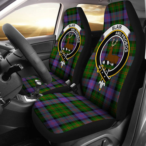 Blair  Clan Badge Tartan Car Seat Cover