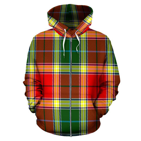 Image of Gibbs Tartan All Over Zip Hoodie