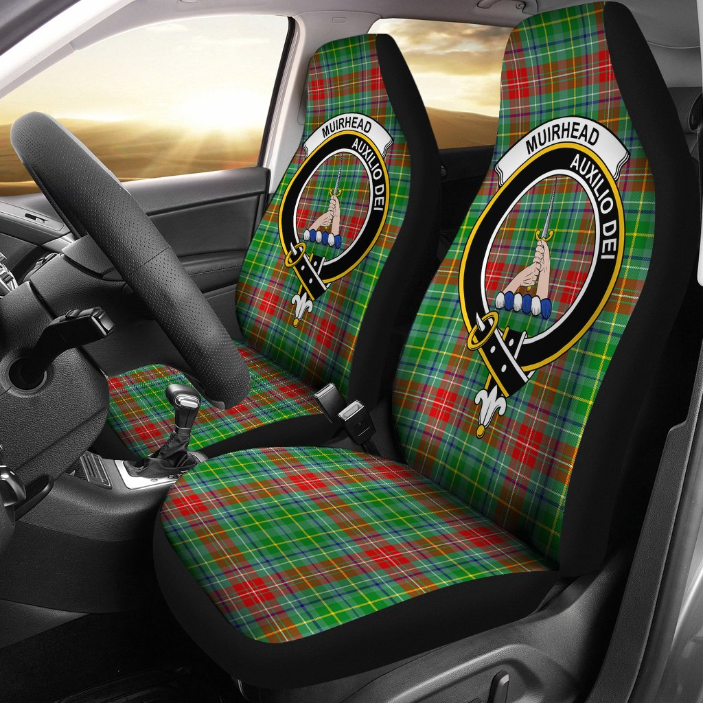 Muirhead Clan Badge Tartan Car Seat Cover