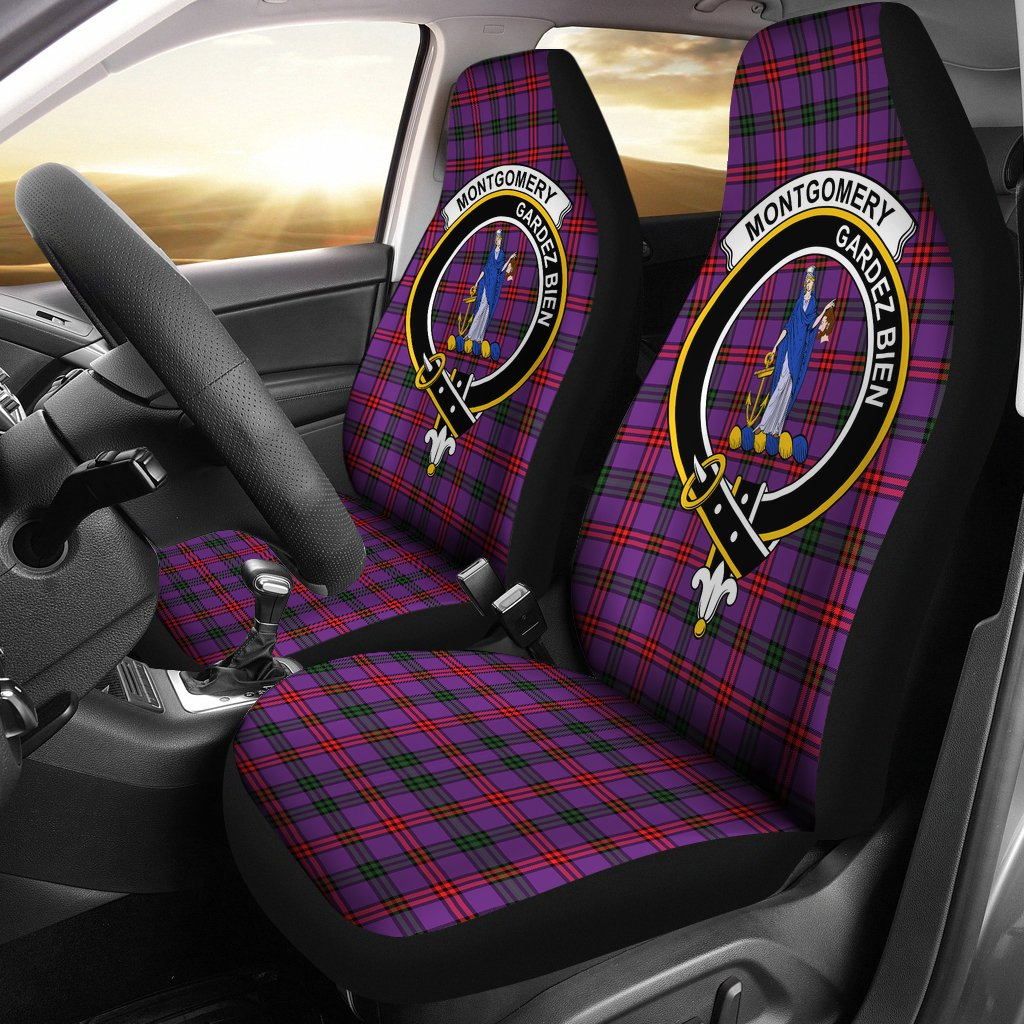 Montgomery Clan Badge Tartan Car Seat Cover