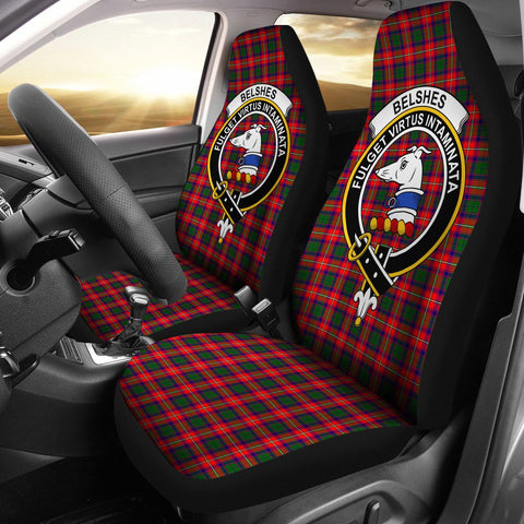 Belshe Clan Badge Tartan Car Seat Cover
