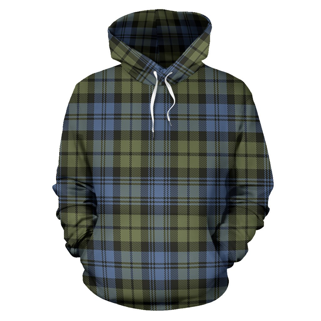 Campbell Faded Tartan All Over Print Hoodie