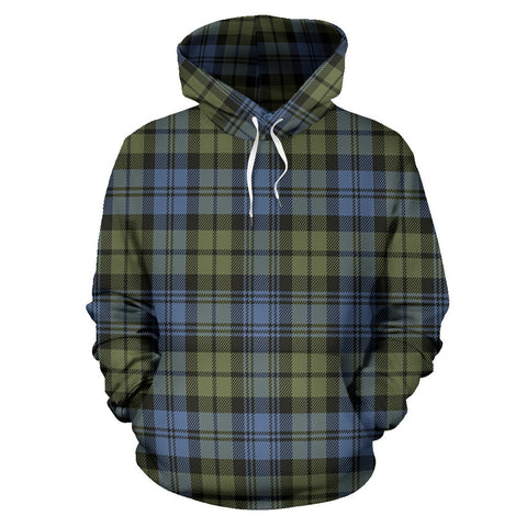 Image of Campbell Faded Tartan All Over Print Hoodie