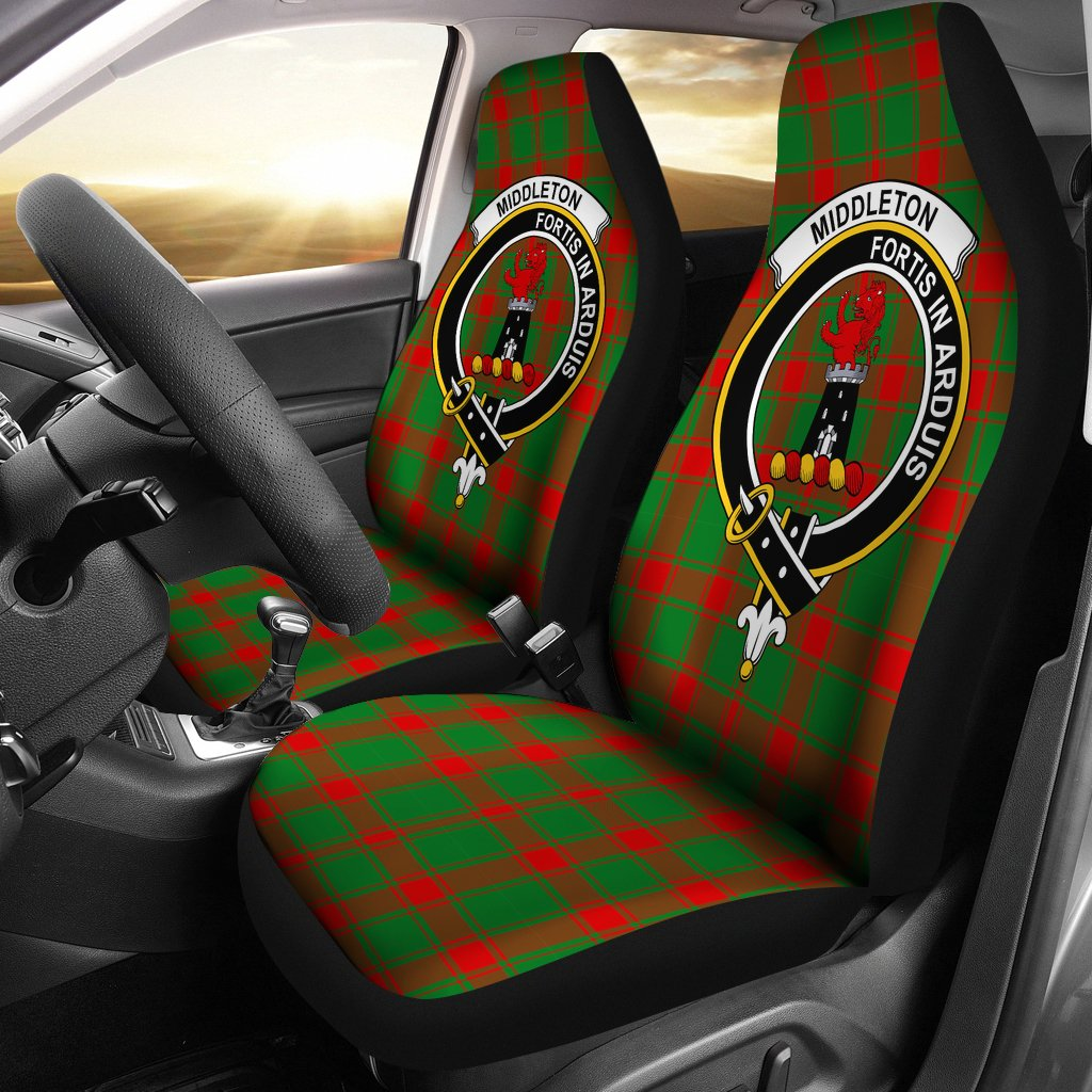 Middleton Clan Badge Tartan Car Seat Cover