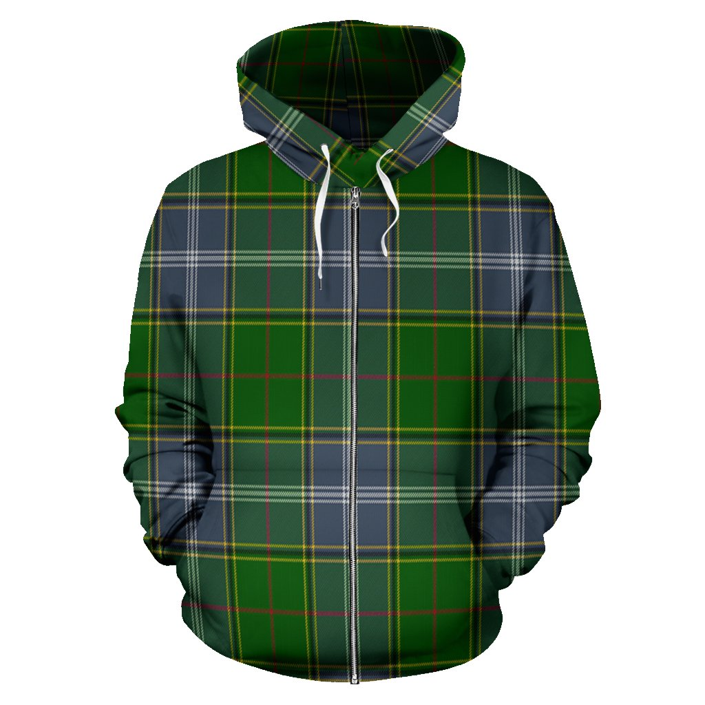 Pringle Tartan All Over Zip Hoodie