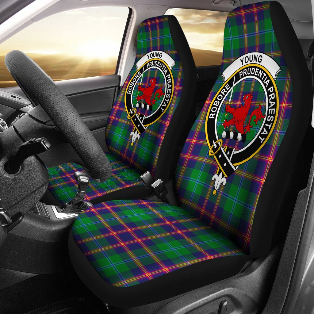 Young Clan Badge Tartan Car Seat Cover