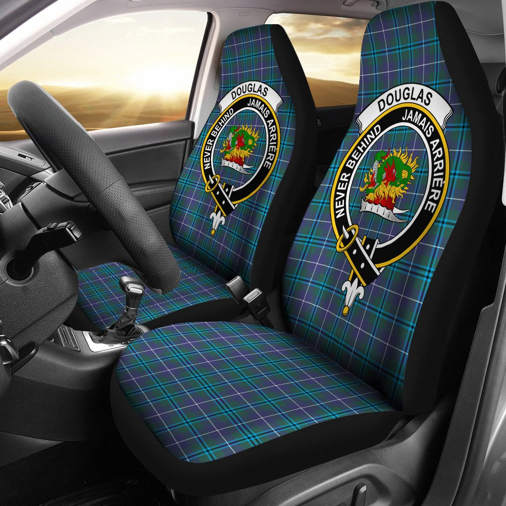 Douglas Clan Badge Tartan Car Seat Cover