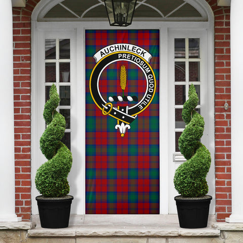 Auchinleck Clan Badge Tartan Door Sock H01