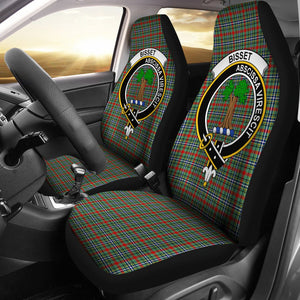 Bisset Clan Badge Tartan Car Seat Cover