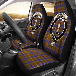 Balfour  Clan Badge Tartan Car Seat Cover