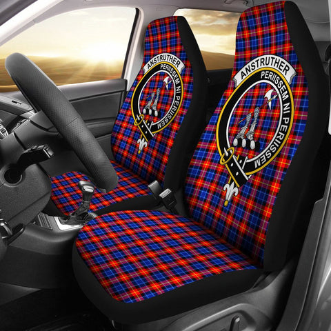 Anstruther Clan Badge Tartan Car Seat Cover