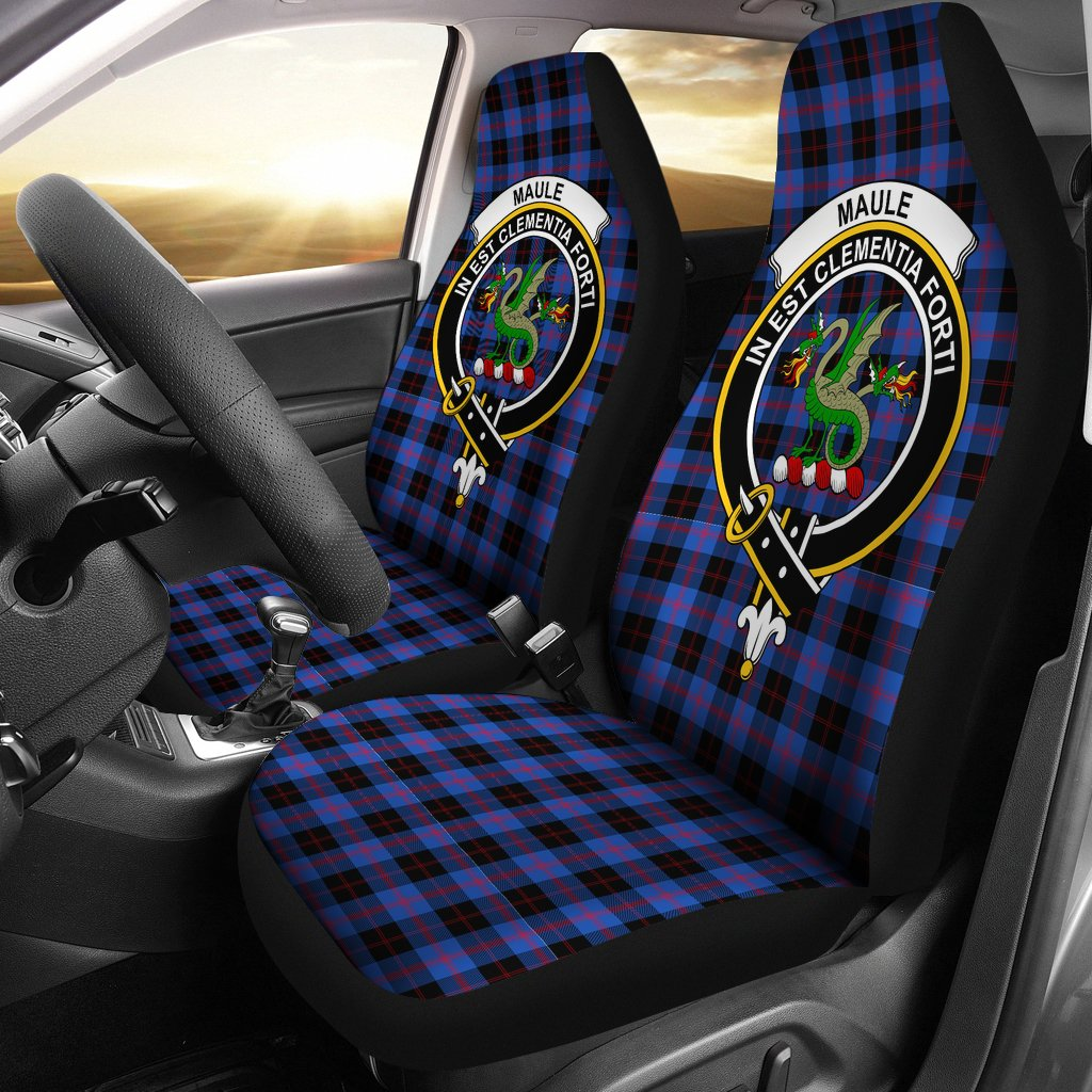Maule Clan Badge Tartan Car Seat Cover