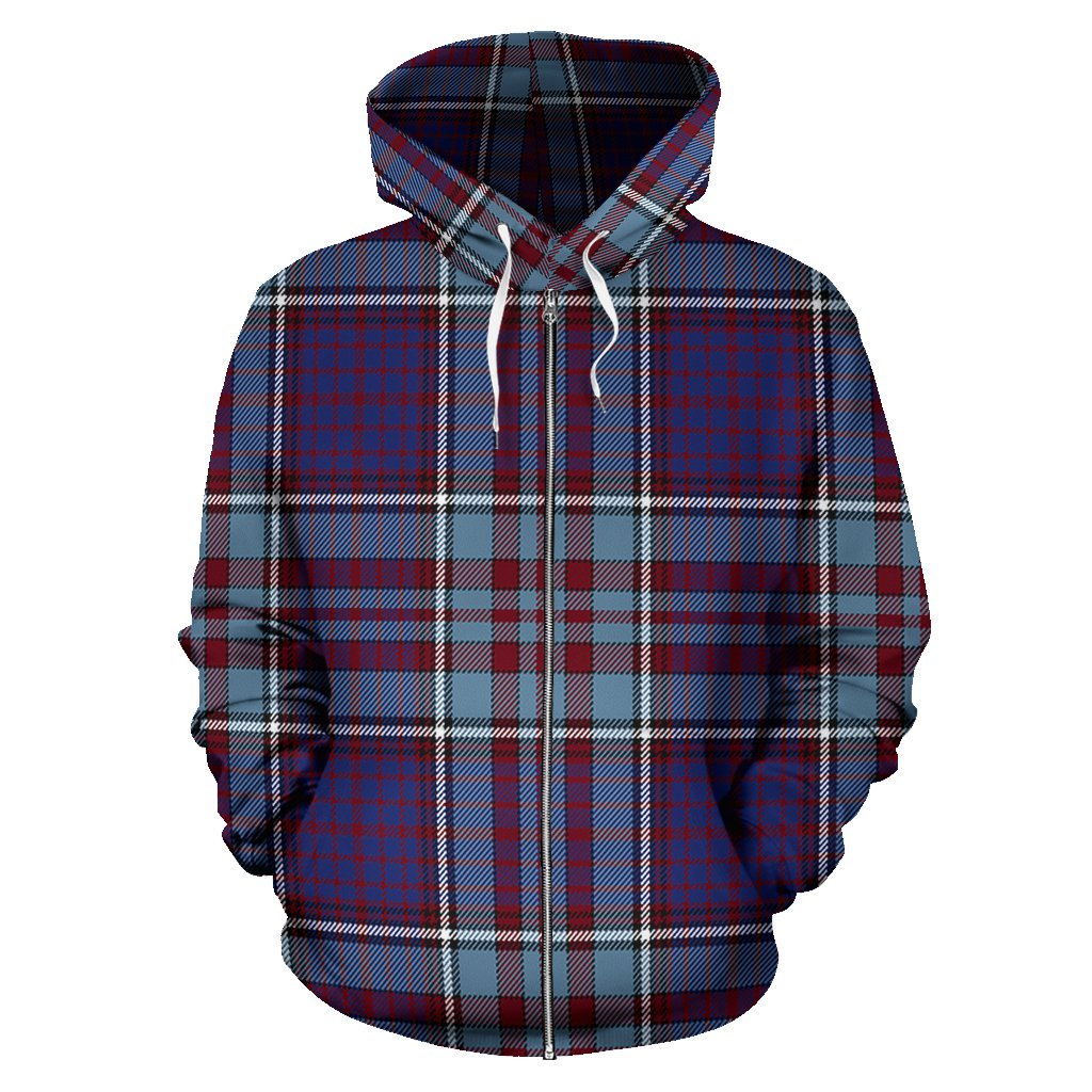 RCAF Tartan Tartan All Over Zip Hoodie