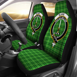 Blane Clan Badge Tartan Car Seat Cover