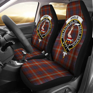 Ainslie Clan Badge Tartan Car Seat Cover