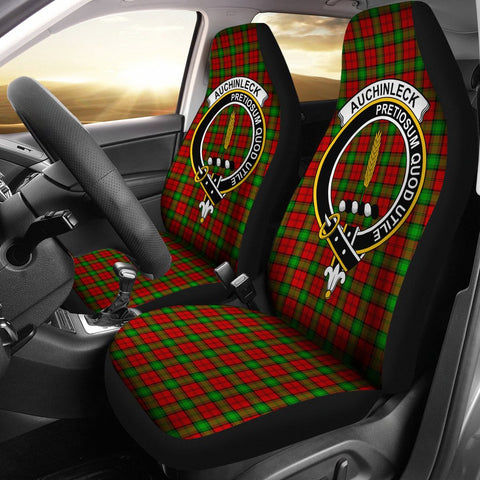 Auchinleck Clan Badge Tartan Car Seat Cover